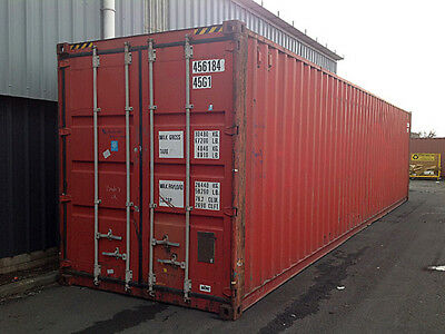 40ft high cube (9,6 high) shipping container, cargo-worthy, Tampa, FL