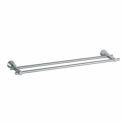 Wall Mounted Double Towel Rail Stand Brass Chrome Bathroom Accessory