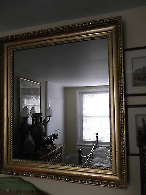 Large Antique 19Th C Victorian Pre-Raphaelite Gold Picture Frame Mirror