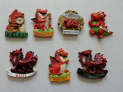 One Selected 3D Souvenir Fridge Magnet from Wales Welsh Dragon