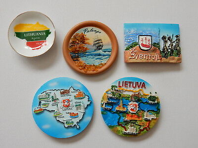 One Selected Souvenir Fridge Magnet from Lithuania