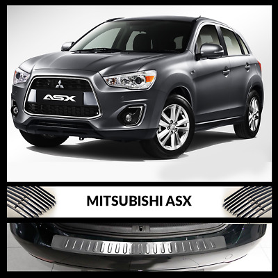 MITSUBISHI ASX Rear Bumper Chrome Cover Protector Stainless Steel 2014 >