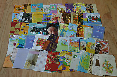 Mixed Occasion Greeting Cards No envelopes Scrapbooking Junk Drawer Lot of 50