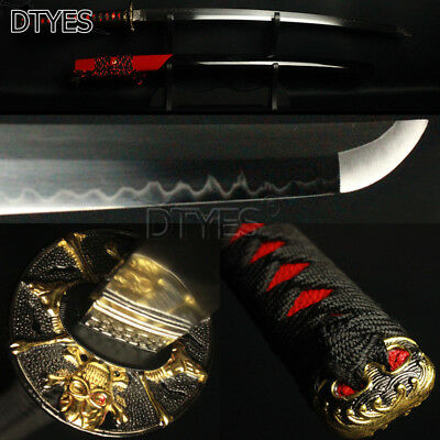 Individualized Skull Japanese Samurai Sword T10 Carbon Steel Strong Blade Katana