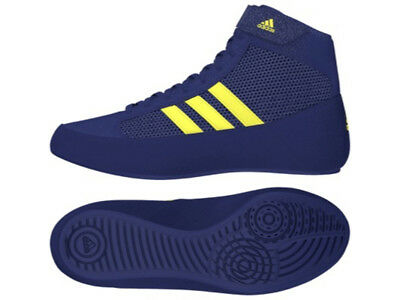 New Adidas Havoc Childrens Kids Junior Boxing Wrestling Boots Shoes Blue