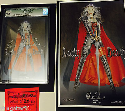 Lady Death:Visions #1 (CGC 9.6 Qualified and Rare Print Combo) Michelle Pfeiffer