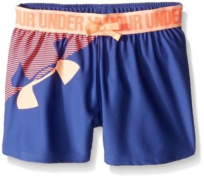 (Youth Small, Deep Periwinkle) - Under Armour Girls' Graphic Play Up Short