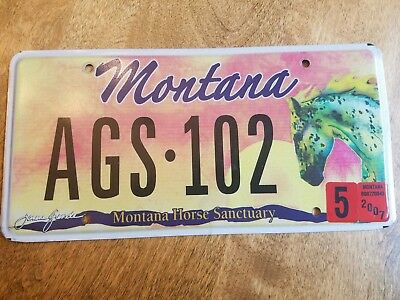 Montana License Plate Horse Sanctuary 2007