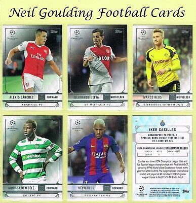 Topps Champions League SHOWCASE 2016-2017 ☆ Football Base Cards ☆ #1 to #100