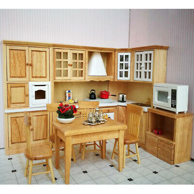 1/12 Dolls House Miniature Furniture Kitchen Cabinet Cupboard Cooking Bench