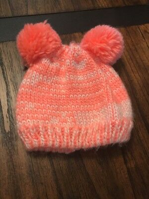 baby girls KNIT WINTER HAT 12-24 months CARTER S fleece LINED Pink With Pom  Ears 5f5e3b020d3