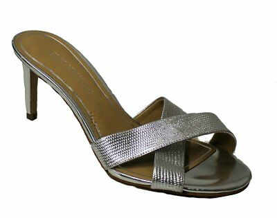 ee43c10c87c2ce Enzo Angiolini Crisscross Slides Sandals Shoes Faux Snakeskin Women s Sz 8M  NEW.