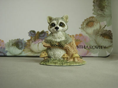Vintage Nature's Friends, Summit Collection, Sm. Raccoon w/ tree branch, resin