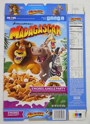 2015 Mom Brands Madagascar Cereal Box-S'mores Jungle Party