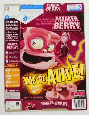 2015 General Mills Franken Berry Cereal Box