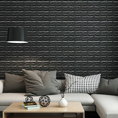 black brick stone background 3d wall stickers peel and stick