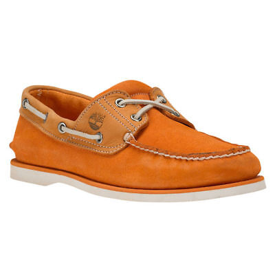 New Timberland Classic 2 Eye Suede Nubuck Leather Mens Deck Boat Shoes rrp £90
