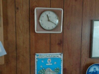Vintage Junghans ATO-MAT Made In Germany Hanging Kitchen/Wall Clock