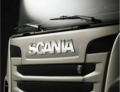 SCANIA Truck Stainless Steel Name Logo Grill Badge 2009-2017