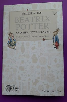 2017 ROYAL MINT - BEATRIX POTTER 50p FIFTY PENCE COIN COLLECTOR ALBUM