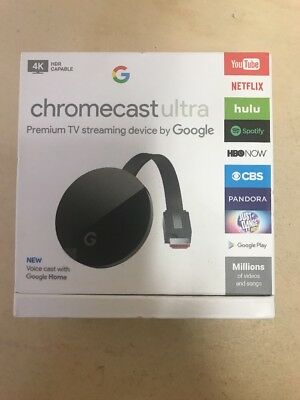Google Chromecast Ultra 4K HDMI Media Streaming Player HD