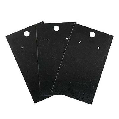 100 Black Jewelry Earring Display Cards by JGFinds, Blank Paper