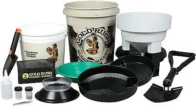 Gold Rush Nugget Bucket Set Gold Mining Equipment Panning Prospecting Kit Supply