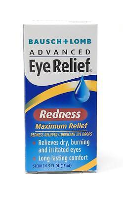 Bausch + Lomb Advanced Eye Relief Maximum Redness Lubricant Eye Drops ~ 0.5 Oz