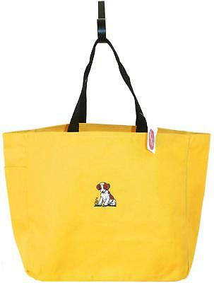 Brittany Puppy Dog Tote Bag Gold Monogram Spaniel Show Breed New Pet Adopt Gift