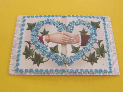 Hands Across the Sea Style Cutout New Year Greeting Postcard