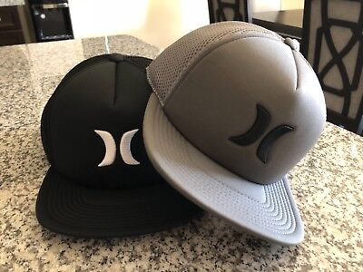 Lot Of 2 Brand New Hurley Blocked 2.0 Snap Back Hat Hats Cap One Size S M L Xl