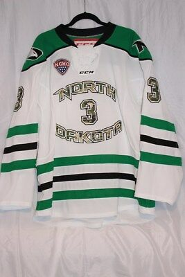 Game Worn UND University of North Dakota Fighting Sioux Hawks Hockey Jersey