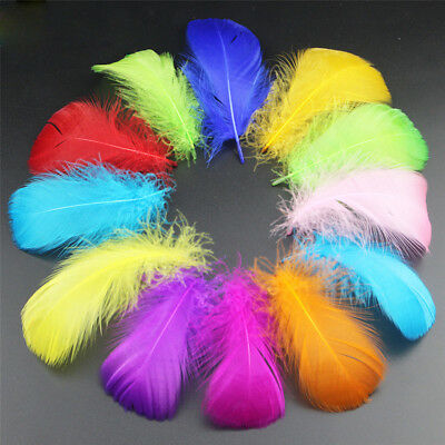 100pcs Beautiful Natural Goose Feather Decoration 8-12cm/3-5inches 13 Colors