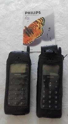 collectable Philips Fizz GSM Mobile Phones x 2 not working 1996