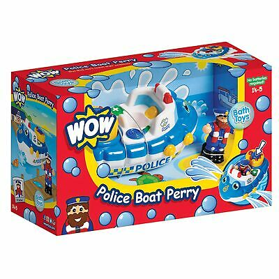 WOW Toys Baby / Child / Kid Police Boat Perry - PVC And BPA Free