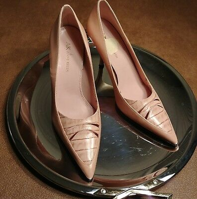 32834c28403 ANNE KLEIN KITTEN heels size 7M pink pointy toe leather upper Spring ...