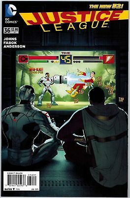 Justice League #36 1:25 Joshua Middleton Variant Cover Dc Comics New 52 Cyborg