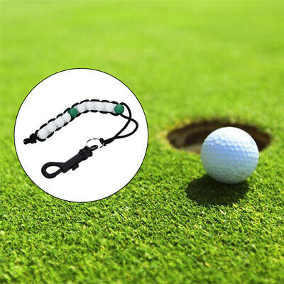 1PCS Golf Stroke Putt Ball Beads Score Counter Keeper with Clip Golf Training AU