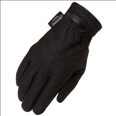 10 Size Black Heritage Cold Weather Riding Leather Gloves Horse Equestrian