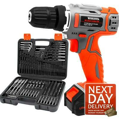 164Pc 18V Cordless Drill Driver Power Lithium-Ion Battery Electric Screwdriver