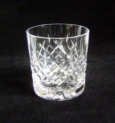 "One Edinburgh Crystal Brodick Pattern Whisky Tumbler 3 1/4 ""  High: with label"