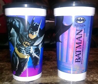 Batman Returns Batman McDonald's Cup & Black Frisbee Disc Lid Coca Cola 1992