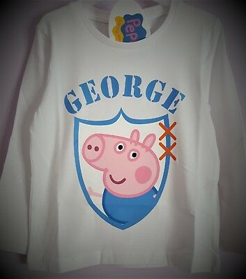 a558c144 BOYS T-SHIRT PEPPA George Pig Travel Journal Skates On Cotton Top 3 ...