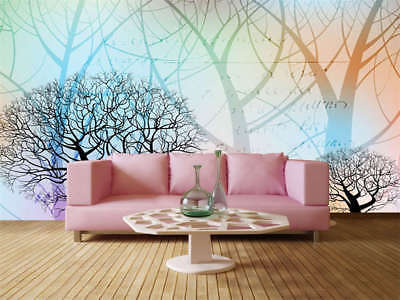 Colorful Forest 3D Full Wall Mural Photo Wallpaper Printing Home Kids Decor