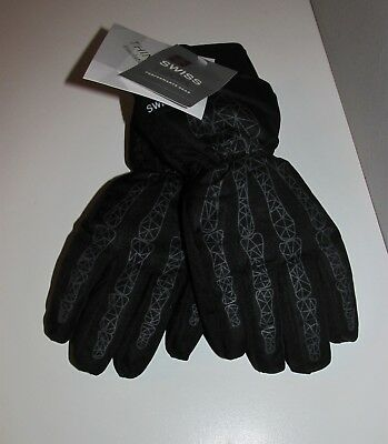 Boys Swiss Tech 3M Thinsulate Skeleton Ski Gloves (Size S/M) BRAND NEW W TAGS