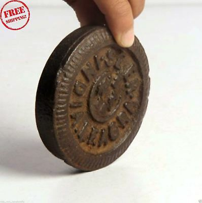 1850S Indian Antique Hand Crafted Iron Mercantile Measuring Weight 1/2 Seer 4266