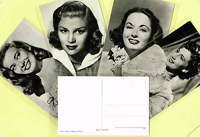 1950s Film Star Postcards issued in Holland (Ref: ANON13a)