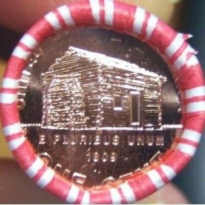 """2009-P """"VDB"""" Lincoln Cent 50-coin Roll - NEW LOG CABIN. smyrnacoin"""