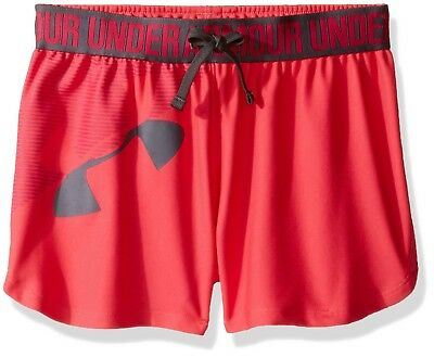 (Youth Small, Gala) - Under Armour Girls' Graphic Play Up Short. Unbranded
