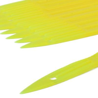 10 Pcs Yellow Plastic Fishing Net Repair Needle Shuttles Bobbin 2# Z2H6